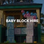 Giant Baby Block Hire Kent, Surrey & Sussex