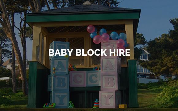Giant Baby Block Hire Kent, Surrey & Sussex