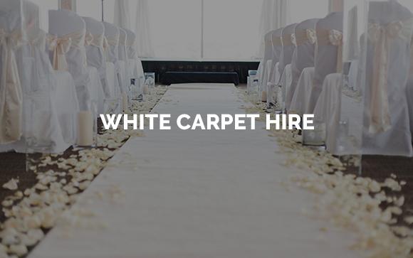 White carpet aisle runner hire in Kent, Surrey, Sussex, London & Essex